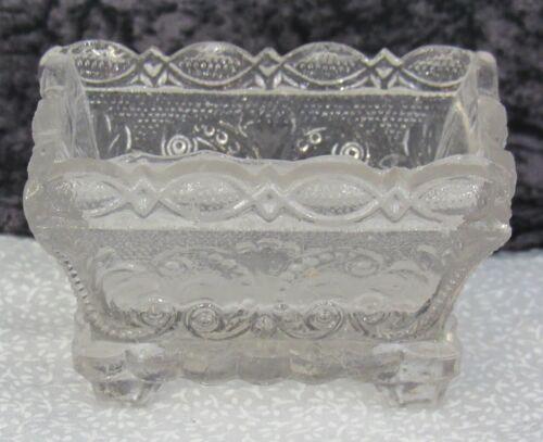 Antique Clear Boston & Sandwich Lacy Pressed Flint Glass Salt Neale MV 1a