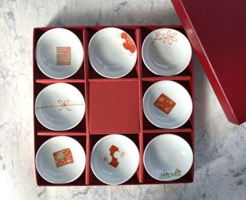Kobachi Arita porcelain ware Japanese small plate set of 8 made in Japan