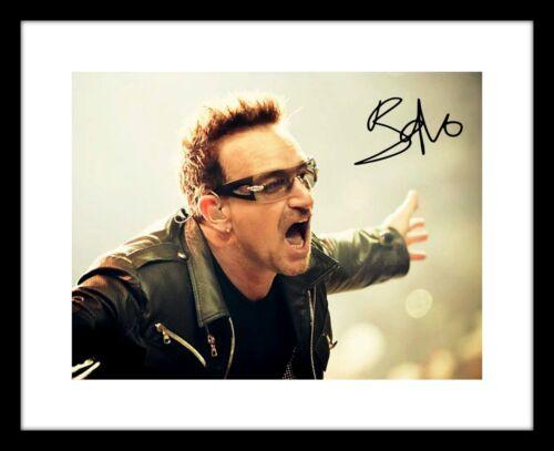 Bono 8x10 Signed Photo Print U2 Concert Picture Rock Band Music Autographed