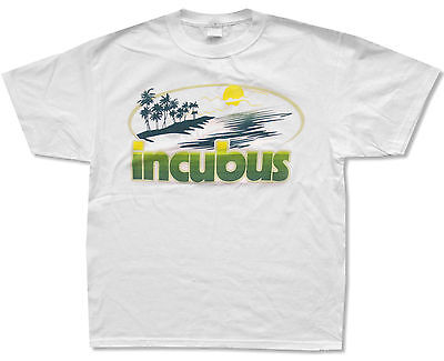Incubus  Sunset  White T Shirt New Official Adult X Large Xl