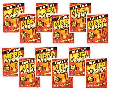 New 12 ct Grabber Heat Treat 12 hr MEGA WARMER Gloves Boots Pocket Instant Heat