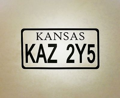 Supernatural Kansas License Plate Vinyl Die Cut Car Laptop Decal Sticker Impala