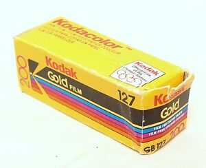 Vintage Rollo Kodak Gold 200 gb127 anticuada 10/1993