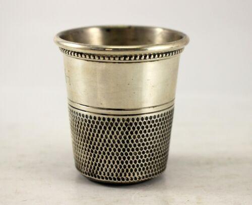 Sterling Silver THIMBLE Shaped Shot Glass ~ Jigger ~ Barware Mixing HALLMARKED