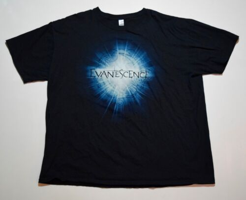 2012 Evanescence Amy Lee Tour Dates SHINE Tshirt Sz XL Tampa Biloxi