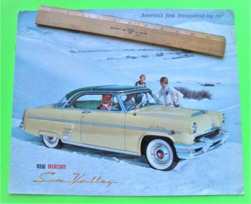 rare 1954 MERCURY SUN VALLEY HUGE CATALOG Brochure 8-pgs TRANSPARENT TOP COUPE