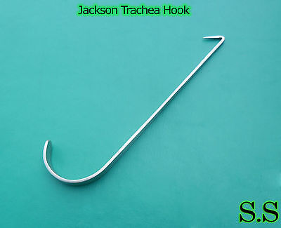 Jackson Trachea Hook Surgical Medical Ent Small 4