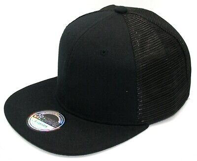 Cappy Herren Damen Cap Basecap Kappe Snapback schwarz Trucker Netz Mesh 54-60cm  Snap Brim Hut