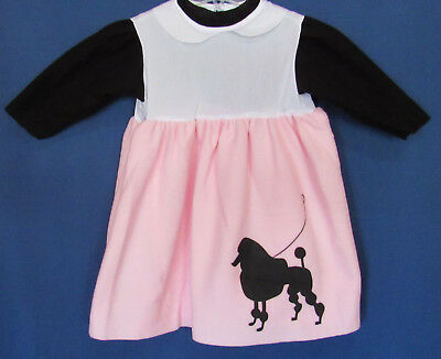 Toddler Poodle Skirts (Pony Express Toddler 2-4 Hip Hip 50's Halloween Poodle Skirt Outfit Costume New)