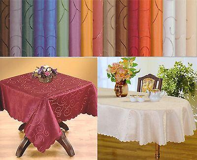 Tischdecken Mitteldecken Ornamente Eckig Oval Rund Pflegeleicht Damast Bügelfrei