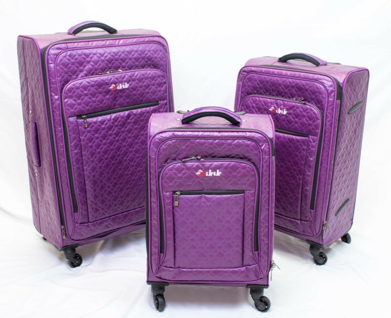 LiFLiF 3 piece spinner luggage set-