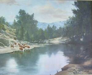 KEVIN BEST OIL PAINTING Runaway Bay Gold Coast North Preview