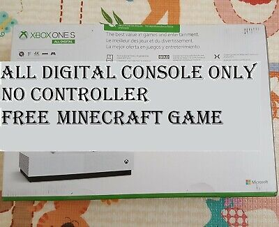 *No Controller* All-Digital Microsoft Xbox One S Console 1TB +Minecraft +1m Live