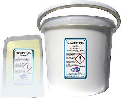 Schwefelpulver 3,5 kg im 5-Liter-Eimer gereinigt und sehr fein Pflanzenschutz