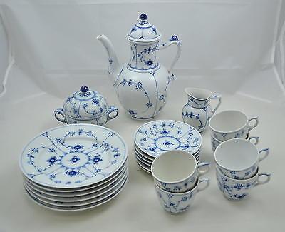 Royal Copenhagen Musselmalet - Blue fluted - Kaffeeservice - Coffee set - 6 pers