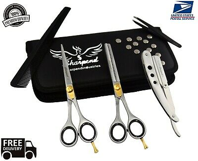 "6"" Professional Hair Cutting Japanese Scissors Thinning Barber Shears Set Kit for sale  Shipping to India"