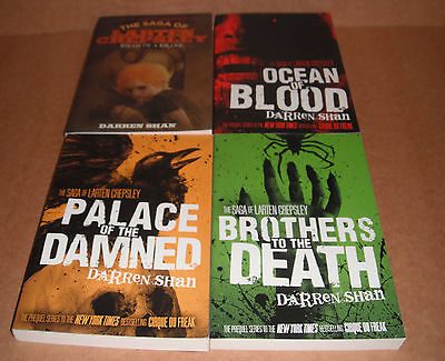 The Saga of Larten Crepsley Vol.1,2,3,4 Complete Set  by Darren Shan NEW