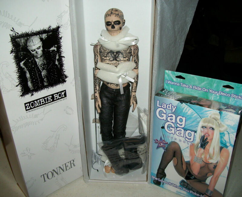 Lady Gaga Rick Genest tattoo Zombie Boy SDCC Comic Con Born This Way Doll Gay