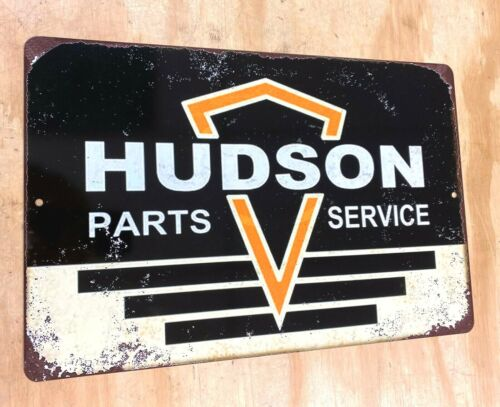 """Hudson Parts & Service Rusted Style Aluminum Metal Sign 12""""x18"""""""