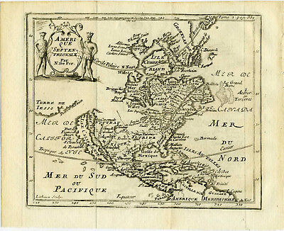 1705 Genuine Antique 6 maps Continents, World. Isle of California. by N. De Fer