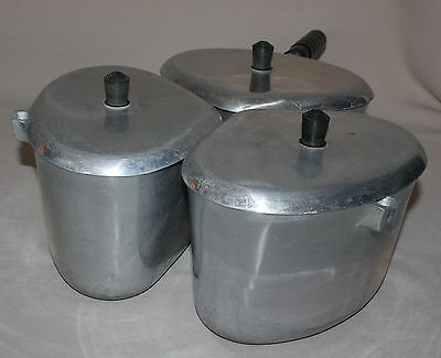 3 Vintage BestMade 2.5 Quart Triangle Pots Lids Handle Best Made Cooking