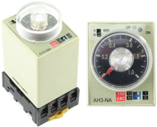 8 pin Timer Relay + Socket On Delay 1S-10M 6S-60M 3S-30M 1M-10H 3M-30H 60S 3S