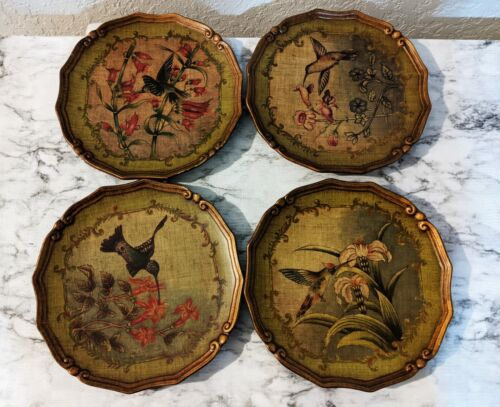 "Giftcraft Lot of 4 Decorative Hummingbird 10"" Plates"