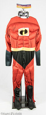 Super Awesome Halloween Costumes (Super Hero Costume Mr. Awesome 4pc Padded Muscle Jumpsuit Halloween)