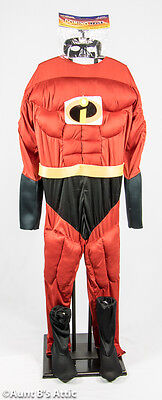Super Hero Costume Mr. Awesome 4pc Padded Muscle Jumpsuit Halloween - Awesome Mens Halloween Costumes