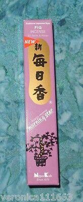 (Fig Japanese Incense Style 50 Sticks NEW Morning Star Ceramic Burner Tile )