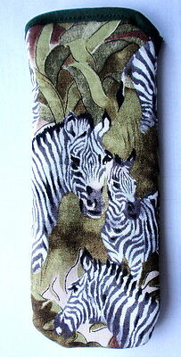 ZEBRAS  ALL OVER  -GLASSES CASE ideal small gift