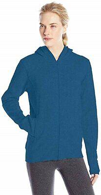 Soffe Womens Hoodie Fleece Zip Up Hooded Sweatshirt with Poc