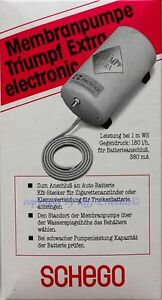 Schego Membranpumpe Triumpf Extra electronic 12V 180l Luftpumpe