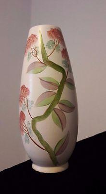 J. FRYER OLDCOURT VINTAGE HAND PAINTED Elegant VASE Floral Design s