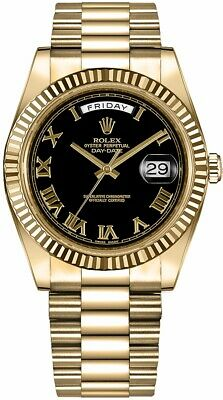 Rolex Presidential Day-Date II 218238 Black Dial w/ Roman Numerals 18k Gold