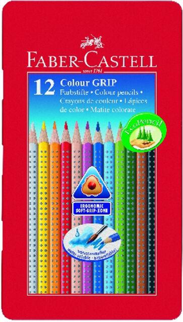Farbstifte Colour-Grip 2001 12er Metalletui Faber-Castell Farbstift Buntstift