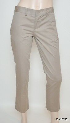 $185 Chaiken And Capone Jackie Pants Cropped Bootcut Trousers Chinos Stone 4