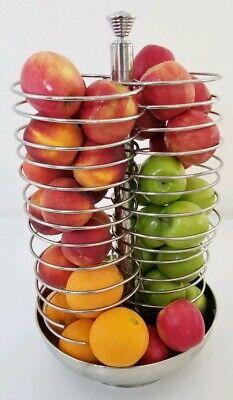 Smart Buffet Ware Swivel Fruit Dispenser Basket Display Spinning Server Chrome