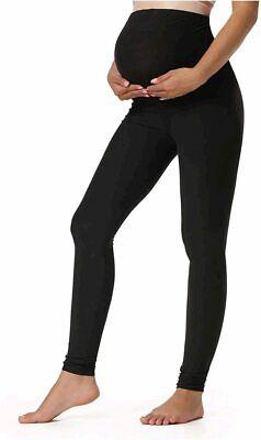 Women s Maternity Leggings Over The Belly Pregnancy, Black, Size Small WmTG - $13.99
