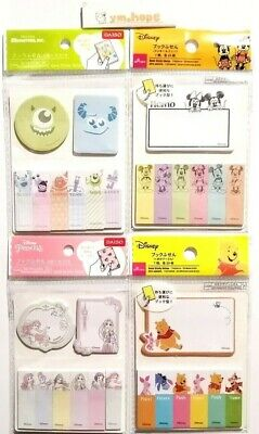 Disney Sticky Notes Memo Pad Index Character Sticker Bookmark Page Flag Mickey