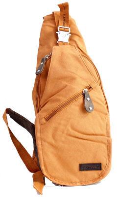 Tasche Braun Stoff Handtaschen (Damenhandtasche von  Elephant® Stoff Rucksack in Braun)