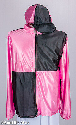 Jockey 6pc Pink/Black/White Kentucky Derby Men's Jockey Uniform Costume ](Jockey Costumes)