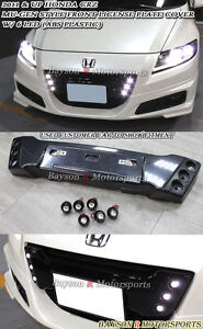 Mu-gen Style Front Grill License Holder (ABS) + LED Fits 11-12 CR-Z 2dr