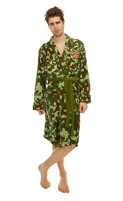 Only Fools and Horses Rodney Camo jacket Adult Mens Bathrobe Dressing Gown