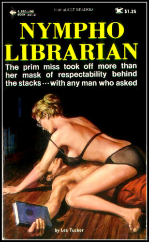 Nympho Librarian Sexy Pulp Fiction Magnetic Poster FRIDGE MAGNET 6x8 Large
