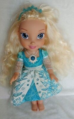 Disney Frozen Snow Glow Elsa Singing Doll Dress Lights Up Retired Jakks Pacific