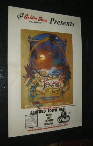 Original FORGOTTEN ISLAND OF SANTOSHA Australia Surfing Movie Poster LARRY YATES