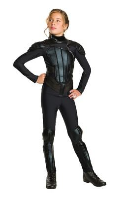 Katniss Everdeen Fancy Dress Rebel Hunger Games Mockingjay Girls Kids Costume ()