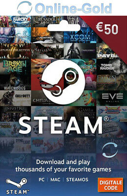50 EUR códigos de la Cartera de Steam - €50 Euro tarjetas...