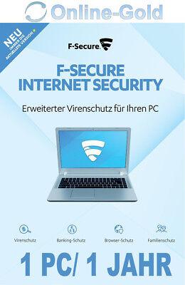 F-Secure Internet Security 1 Gerät 1 PC 1 Jahr Deutsch Windows - Vollversion EU online kaufen